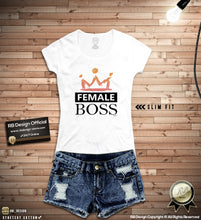 "Women's Graphic T-shirt ""Female Boss"" Cool Trending Top WD349"