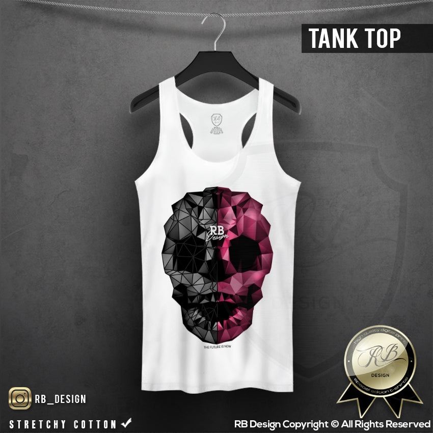 778f16b8 Abstract Designer Skull T-shirt Unique RB Design Top WD351 – RB Design Store