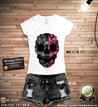rb design abstract skull t shirts