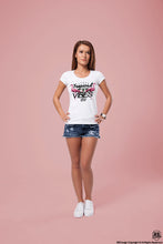 Ladies Graphic Top Tropical Vibes 89' Fresh Flamingo T-shirt WD356