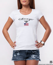Chicago Illinois Fashion Graphic Women's T-shirt WD361
