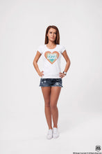 "Vintage Colors Women's Graphic T-shirt ""Love Again"" WD369"