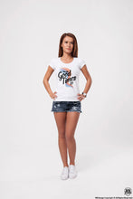 "Women's T-shirt With Vintage Effect ""The Old Good Times"" WD373"