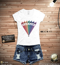 "Vintage Colors  Women's Graphic Printed T-shirt ""Dreamer"" WD377"