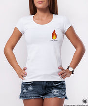 "Cool Women's Graphic Top - Fire ""True Love"" WD381 Pocket Style"