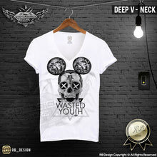 Modern Mickey Diamond Skull Mens T-shirt Wasted Youth MD388