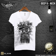 mens deep v neck fashion tees sexy girls middle finger