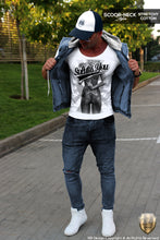 mens slim fit designer tees middle finger