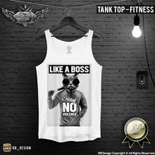 funny cat tank top rb design