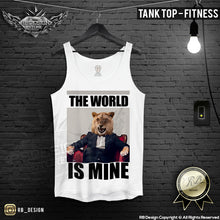 lion the boss mens printed fitness tank top