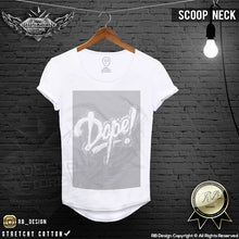 scoop neck slim fit t-shirt