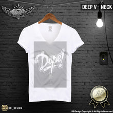 white deep v neck t-shirt