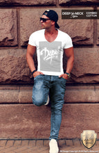 deep v neck trendy t-shirts