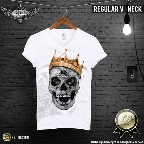 diamond skull graphic t-shirt