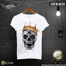 gold crown skull t-shirt