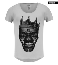 black skull t-shirt gray color