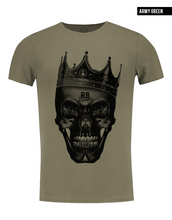 army green fashion designer t-shirt