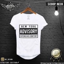 Men's T-shirt New York Advisory Expensive Content Cool Funny Slogan Tee MD465