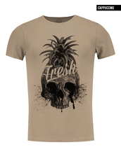 pineapple skull t-shirt beige