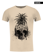 crew neck pineapple skull t-shirt