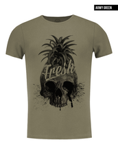 khaki pineapple t-shirt for men