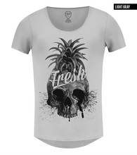 pineapple skull t-shirt gray color