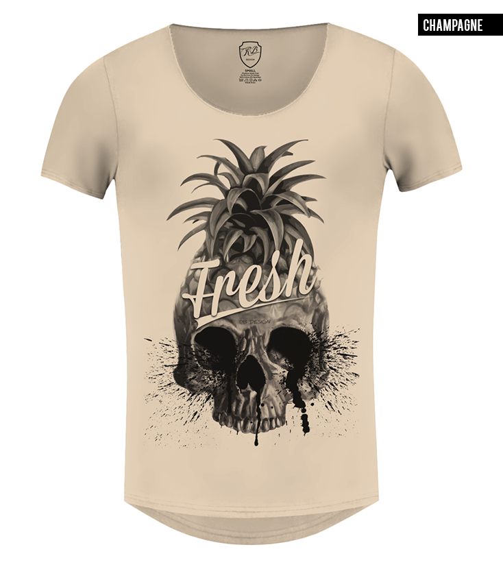 mens beige pineapple t-shirt