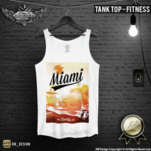 Miami Men's T-shirt Ocean Drive Old Cadillac Summer Sunshine Tank Top MD492
