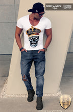 trendy outfit golden skull mens shirts