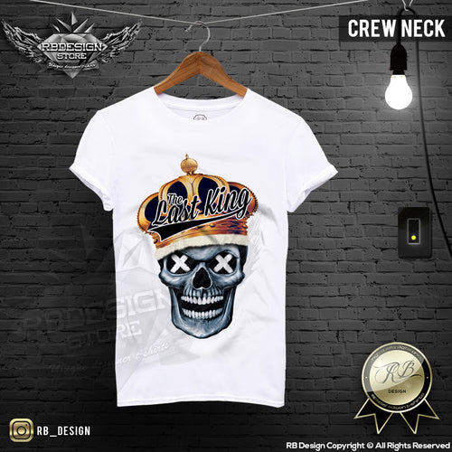 last king mens skull crew neck t-shirt