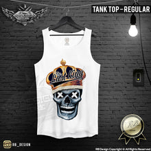 gold skull printed fitness mens tank top