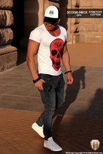 Endless Youth Men's RED Diamond Skull T-shirt RB Design Tank Top MD495 R