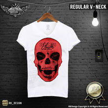 red skull graphic tees for men