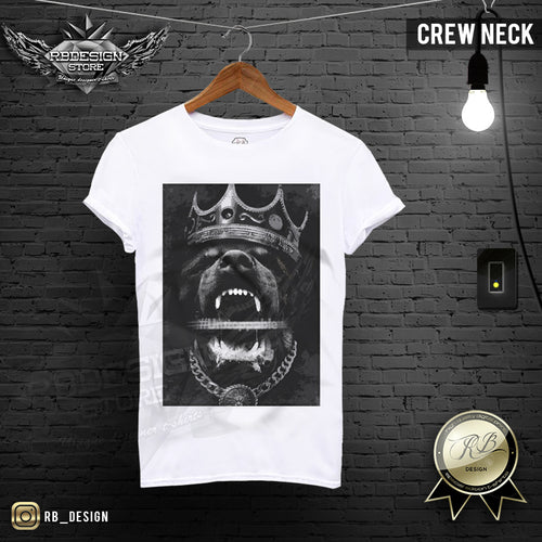 Rottweiler Mens T-shirt Angry Dog Crown Tank Top MD508