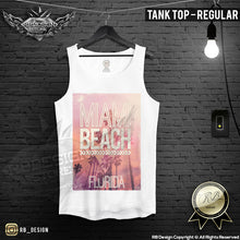 mens miami beach summer tank top