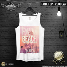 Palm Beach Men's T-shirt Florida Miami Summer Festival Tank Top MD512