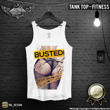 BUSTED Mens Sexy Girl T-shirt Crime Scene Tank Top MD537