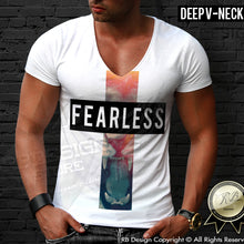 deep v neck lion t-shirt