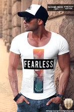 scoop neck mens fashion t shirt