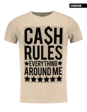 fashion beige t-shirt with saying