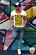 Mens T-shirt Cash Rules Everything Around Me Funny Saying Tee MD562