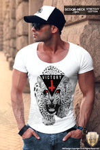 trendy designer victory mens scoop neck tee