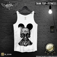 mens skull tank top fitness