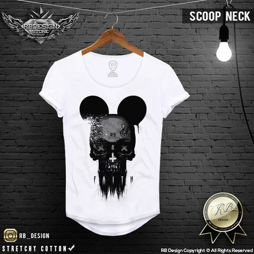 fashion mickey mouse skull t-shirt