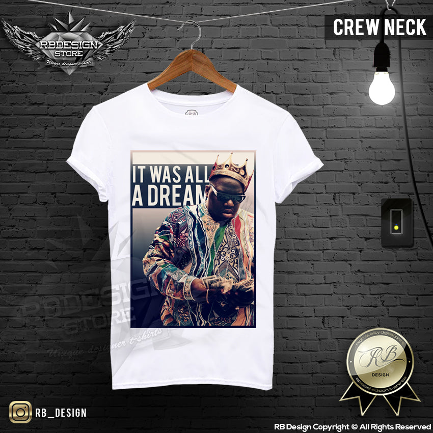 f7d3626d Notorious BIG T-shirt It Was ALL a Dream Premium Quality Graphic Tee M – RB  Design Store