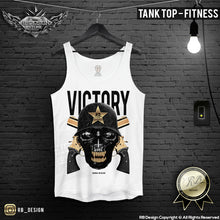 graphic victory skull fitness mens tank top
