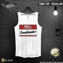 Hell My Name Is Troublemaker Cool T-shirt Bad Boy Graphic Top MD602