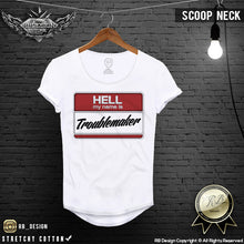 scoop neck troublemaker t-shirt