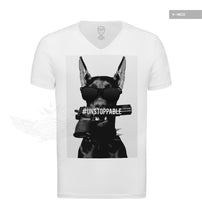 rottweiler mens white t shirt