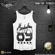 New York Manhattan 89' Men's T-shirt The Big Apple Tank Top MD625 BLACK